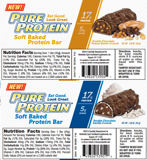 pure protein baked bar macros